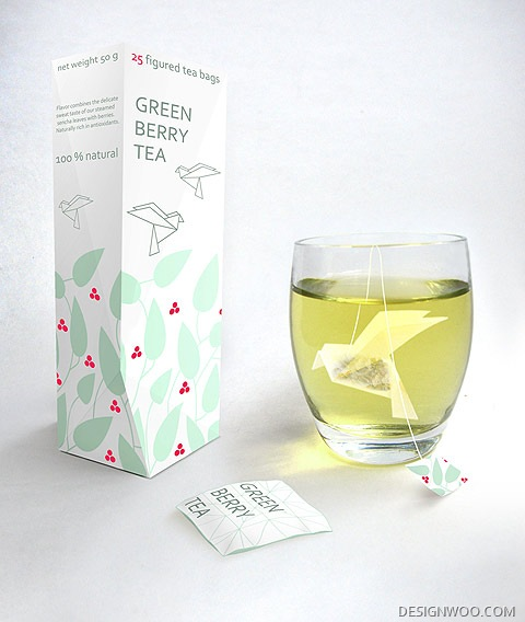 New Food And Packaging Design/ Green Berry Tea