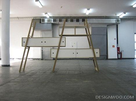 Modular Multi-Ladder Step Shelf System