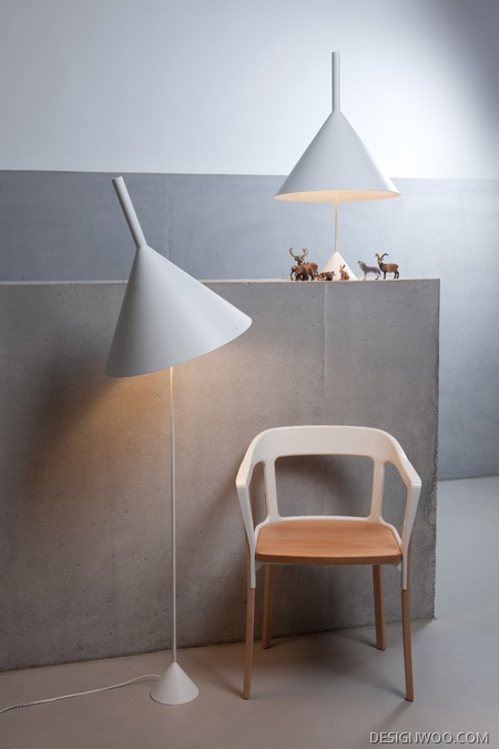 Funnel-Shaped Lamps For Lighting Brand Vertigo Bird