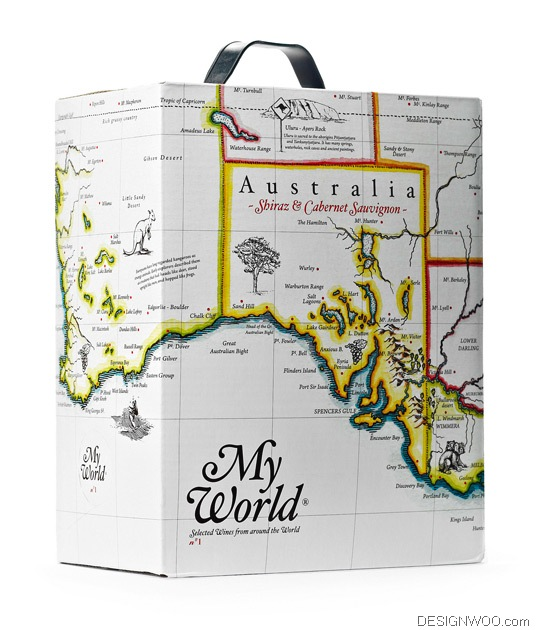 My World Wine Package Design