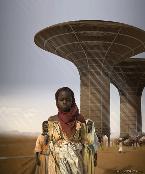 H3AR Proposes Multipurpose 'Watertower' Skyscraper For Sudan
