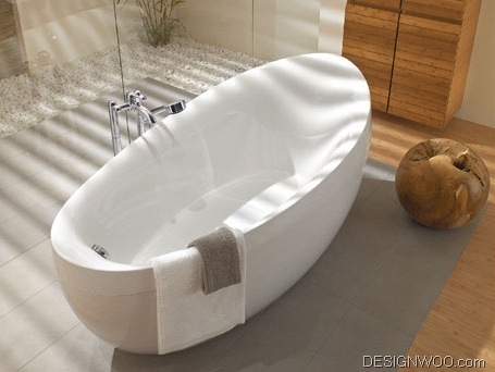 Natural Sensuous Bathroom Appliance Furniture Design