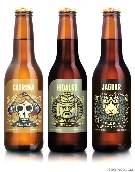 Beer Bottle And Labels Design