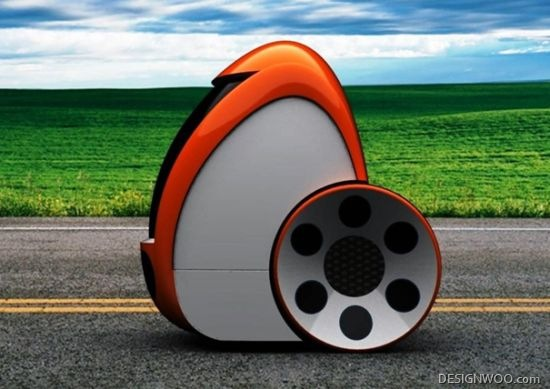 Gentoo All-Electric Concept Car Looks Like An Egg On Two Wheels