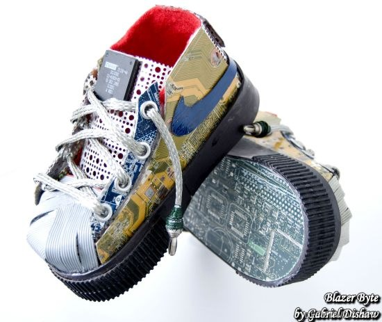 Eco-Artist Transforms E-Waste Into Classic Sneakers