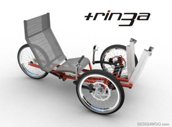 Tringa – A Collapsible Tricycle For Urban Commuters