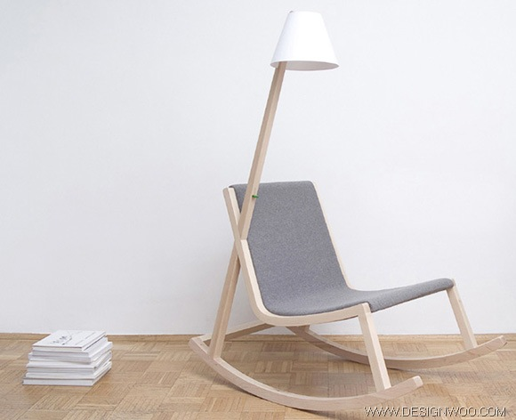 A Rocking Chair Design Generatrs Electricity