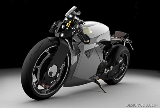 Stylish Electric Bike Concept Wears Aggressive Looks