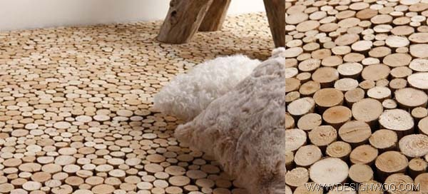 End Grain Driftwood Flooring by Bleu Nature