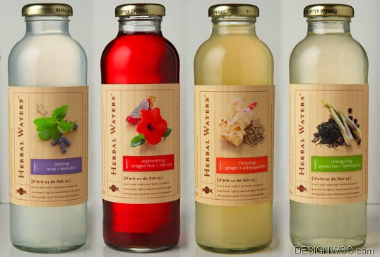 Herbal Waters Package Design