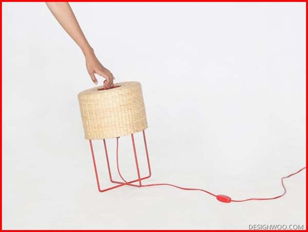 Furniture And Lighting Woven Design From Water Hyacinths