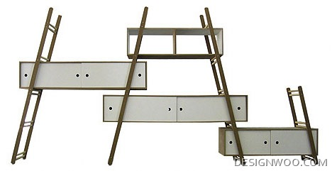 Modular Multi-Ladder Step Shelf System